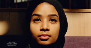 Une femme en hijab en couverture de Vogue