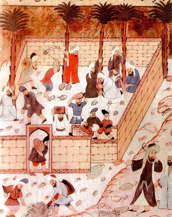 Construction de la première mosquée à Médine