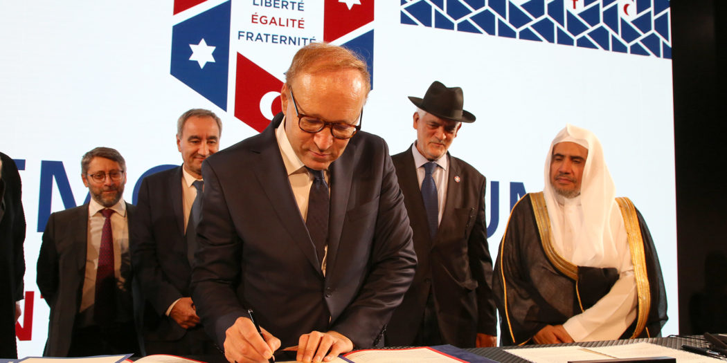 Signature du memorandum pour la paix