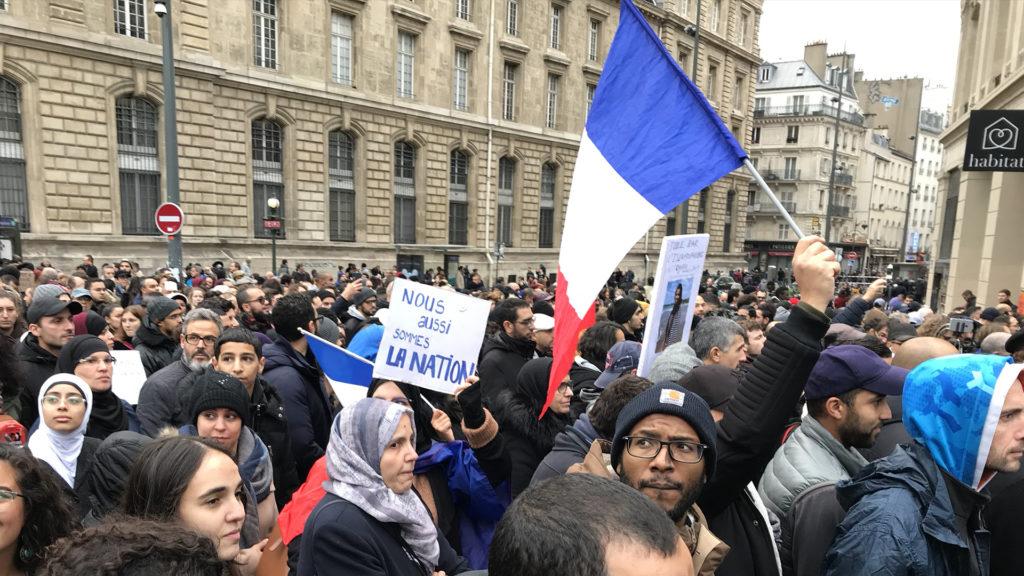 laïcité? Manifestation contre l'islamophobie-