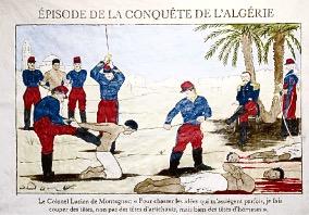 Les Français décapitent des Algériens en 1845