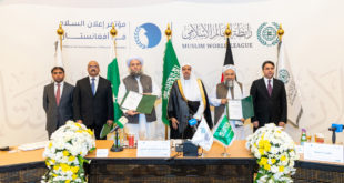 """SIGNATURE IN MECCA OF A """"DECLARATION OF PEACE IN AFGHANISTAN"""""""
